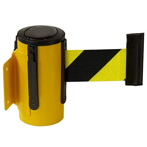 RS-GUIDESYSTEMS GLW 25-E/17-4,0 Gurt-Wandkassette, innen, gelb, gelb/schwarz, Gurt: 4 m aus Stahl, Kunststoff
