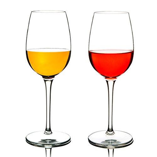 MICHLEY Unbreakable Red Wine Glasses, 100% Tritan Plastic Shatterproof Wine Goblets, BPA-free, Dishwasher-safe 12.5 oz, Set of 2]()