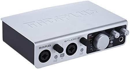 ammoon Interfaz de Audio USB Tarjeta de Sonido 2 Entradas 2 ...