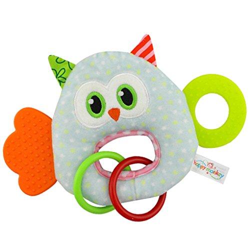 Baby Cartoon Animal Rattles Toy Happy Monkey Plush Animal Toys Kids Toy Minzhi