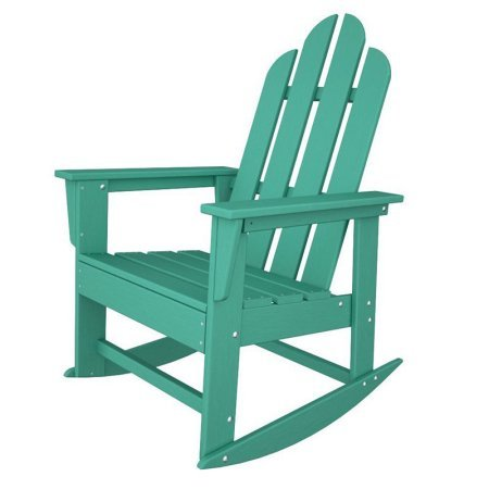 Aruba Recycled Plastic Materials (Outdoor Recycled Plastic Rocking Chair, Weather Resistant Material, Porch Rocking Chair, Comfort Back, Eco Friendly Furniture, Ideal for Poolside, Multiple Colors + Expert Guide (Aruba Blue))