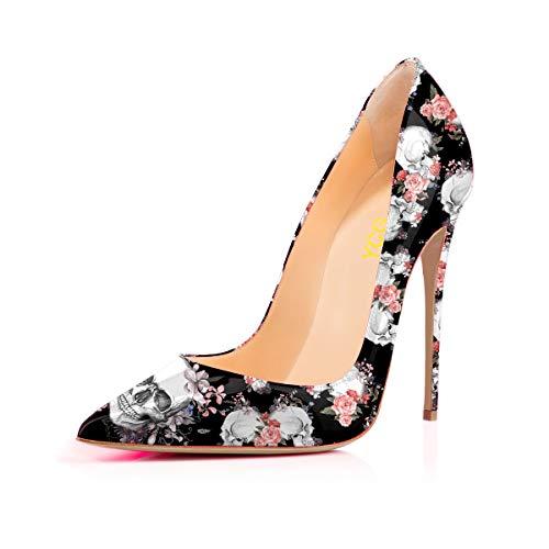 YCG Women's High Heels Party Wedding Pumps Black
