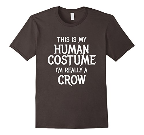 Mens Crow Halloween Costume Shirt Easy Funny for Men Women Kids 2XL Asphalt