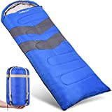 Sleeping Bag - Envelope Lightweight Portable, Waterproof, Comfort With Compression Sack - Great
