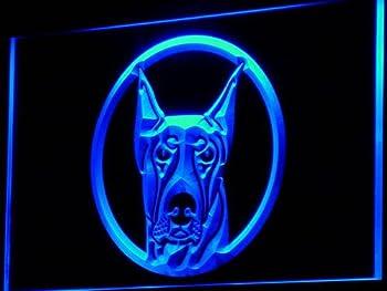 Doberman Pinscher Dog Pet Shop LED Sign Neon Light Sign Display i667-b(c)