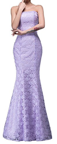 - Eyekepper Bridesmaid Sexy Strapless Wedding Long Dress Mermaid Lace Prom Gown