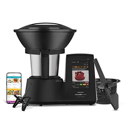 Taurus Mycook Touch Black Edition – Robot de Cocina con wifi, 1600W, 2L, hasta 140º, multifunción, miles de recetas…