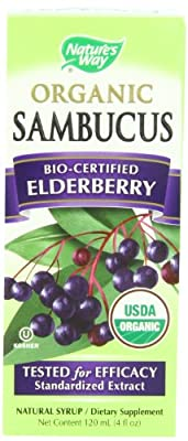 Nature's Way Organic Sambucus Elderberry Syrup, 4 Fluid Ounce