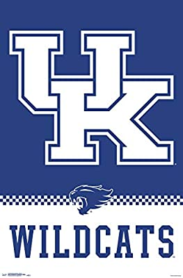 "Trends International University of Kentucky-Logo Mount Bundle Wall Poster, 22.375"" x 34"", Multi"