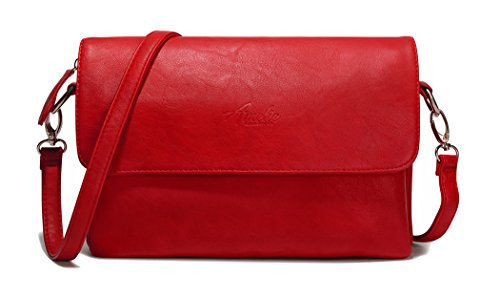 Red Shoulder Bag Purse (AMELIE GALANTI Small Crossbody Bags for Women Shoulder Bag Multi-Pocket)
