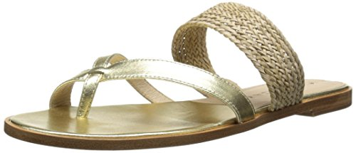 Via Spiga Women's Tamina, Gold/Natural, 8.5 M US