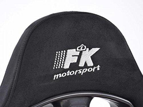 FK-Automotive Sportsitz Set Chicago 1xlinks+1xrechts rot schwarz