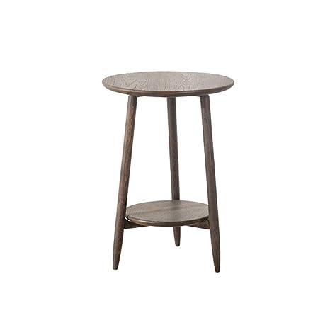 Amazon.com: XBBZ Mesa de café de madera maciza, de roble ...