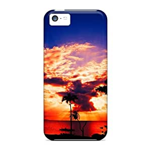 Mycase88 Iphone 5c Well-designed Hard Cases Covers Magnificent Sunset Protector