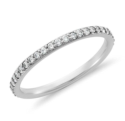 Venetia Realistic Top Grade Hearts and Arrows Cut Simulated Diamond Ring Semi Eternity Stackable Band 925 Silver Platinum Plated cz cubic zirconia bd7