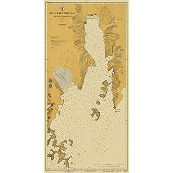 Resurrection Bay Alaska Map.Amazon Com 1913 Nautical Chart Historical Resurrection Bay