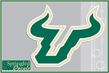 Amazoncom Usf Bulls Bull Horns Logo 4 Vinyl Decal 1 South
