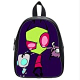 Large Size Invader Zim Gir Backpack Custom High School Students Backpack for Travel or Party