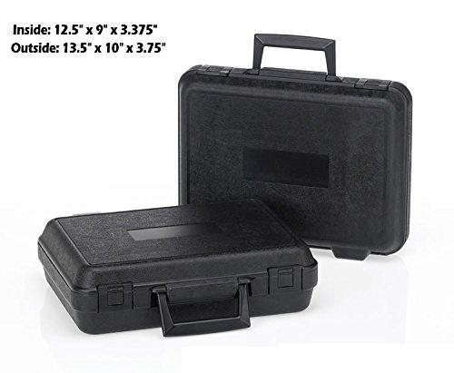 HUNSAKER USA: Hard Case Universal Storage Box (Inside Dimensions: 12.5'' x 9'' x 3.375'' - Black)