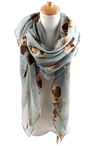 GERINLY Animal Scarves: Cute Pugs Print Voile Oblong Scarf - Slippers Pug
