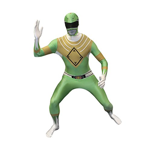 Power Costumes Green Ranger (Official Green Power Ranger Morphsuit Costume - size Large - 5'5-5'9)