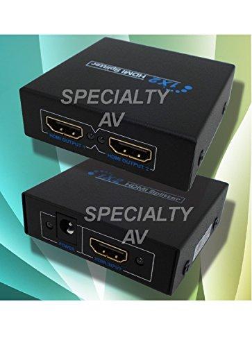 1x2 HDMI Distribution Amplifier Amp Splitter Multiplier 3D Capable 1080p 1.3V HDCP by SPECIALTY-AV