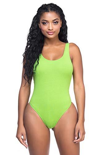 Women's J2 Love Cotton Tank Thong Bodysuit, Small, -