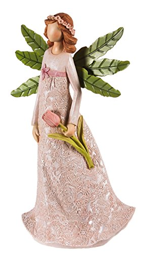 Garden of Good Wishes Angel with Tulips (Tulip Statue)