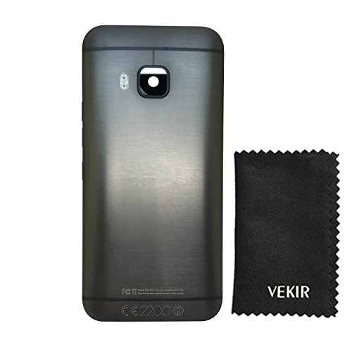 VEKIR Battery Door with Camera Glass Cover Compatible with HTC One M9(Black) (Battery Htc Door)