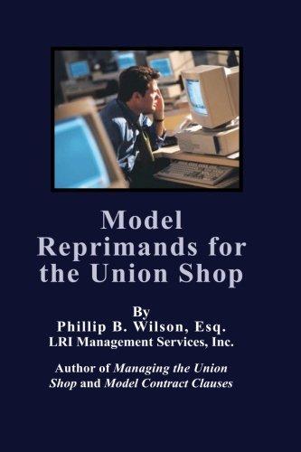 Model Reprimands for the Union Shop