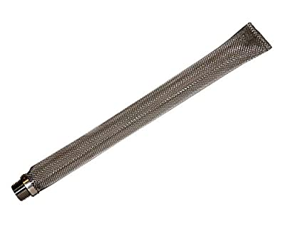 """12"""" Stainless Steel Bazooka Screen with 1/2"""" MPT Fitting by Home Brew Stuff"""