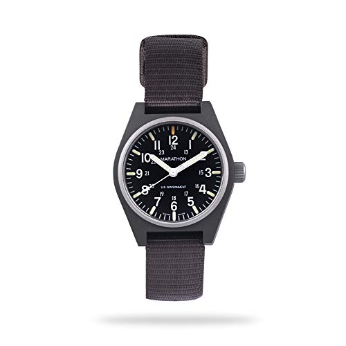 (Marathon Watch WW194009-SG General Purpose Quartz Swiss Made Military Field Army Watch (GPQ) with MaraGlo and Sapphire Crystal, (34mm, Sage Green))