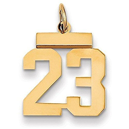 number pendant gold - 5