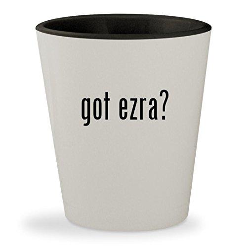got ezra? - White Outer & Black Inner Ceramic 1.5oz Shot Glass