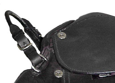 Paris Tack Rolled Horse Saddle Grab Strap - Black