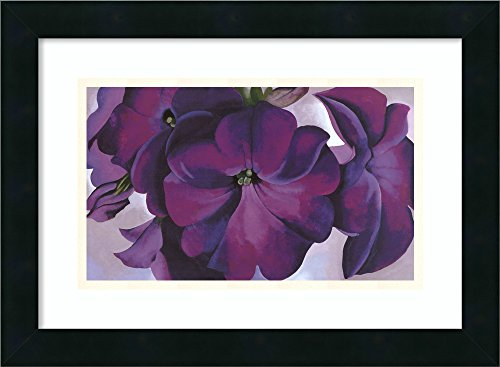 Framed Wall Art Print Petunias, 1925 by Georgia O'Keeffe 18.12 x ()