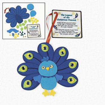 Poem Craft Kit (Peacock Christmas Ornament w/Poem Craft)