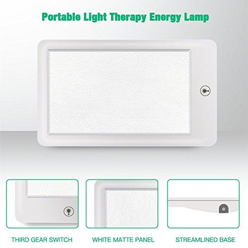 YOLOPLUS Therapy Lamp Sad Light Happy Light -3 Level Adjustable 6000/21000/32000 Lux Spectrum LED Light Portable Light Energy Lamp ()