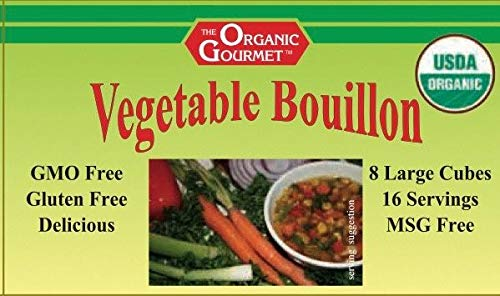 Organic Gourmet Vegetable Bouillon, 8 Cubes (Pack of 12)