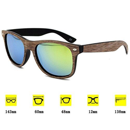 Highdas Lunettes Glasses de soleil Homme Fashion UV400 Bois Or Grain Femme rqwRHrp4