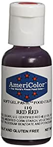 Americolor Soft Gel Paste Food Color, .75-Ounce, Red