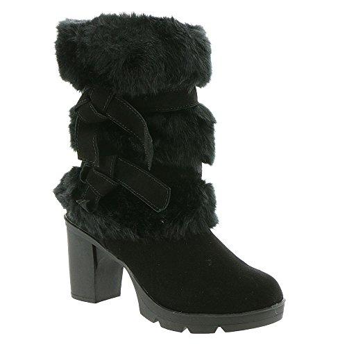BEARPAW Women's Bridget Boot Black II Size 6 B(M) US