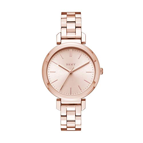 DKNY Women's Ellington Analog-Quartz Watch with Stainless-Steel-Plated Strap, Rose Gold, 13 (Model: NY2584)