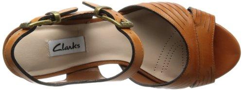 Clarks 203576654 - Sandalias de vestir de Piel para mujer Marrón