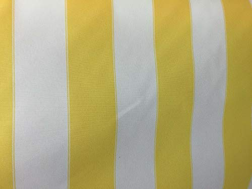 (YELLOW WHITE WATERPROOF OUTDOOR CANVAS FABRIC 60