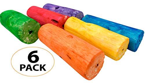 (Bonka Bird Toys 3145 Pk6 Rainbow Sola Sticks Foot Talon Bird Toy )