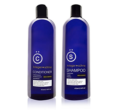 K + S Salon Quality Men's Shampoo + Conditioner Set (16oz)