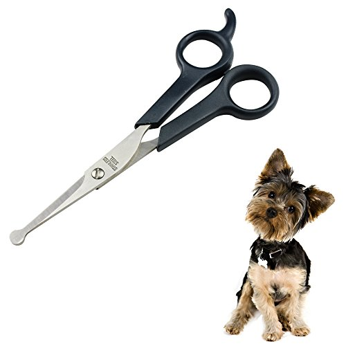 Professional Pet Grooming Scissor with Round Tip Stainless Steel Dog Eye Cutter for Dogs and Cats