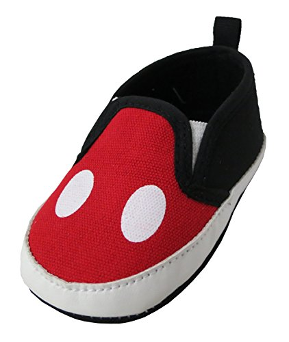 Disney Mickey Mouse Red and Black Infant Shoes - Size 3-6 Months [2013]