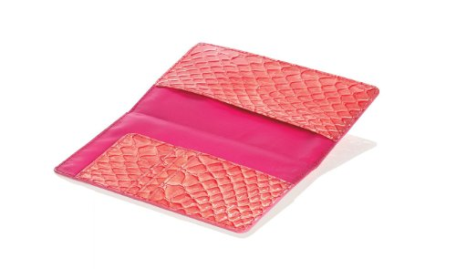 Travel Smart by Conair RFID Blocking Passport Holder Wallet, Coral Crocodile (Crocodile Holder Passport)